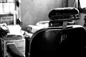 barber chair by monkeywingsyellow