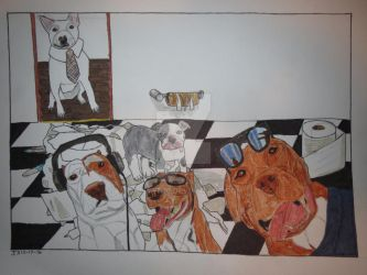 Bully dogs and toilet paper by Justyn16