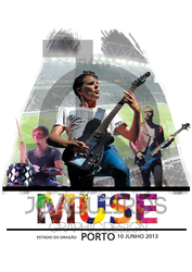 Tshirt Muse White Estadio do Dragao by akaPREDADOR