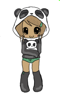 Panda Hat by PoeticManiac