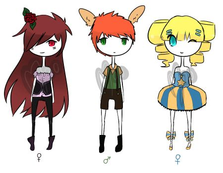 {OPEN/AUCTION} Adoptable set # 6 by lumiorah