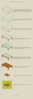 How to make a pixel table by vanmall