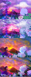 Sunset. Process of drawing by ShionMion