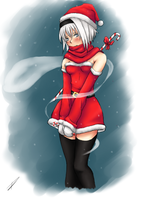 Konpaku Youmu Christmas outfit - Color by Shiya-san