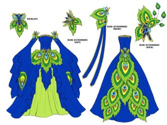 Peacock Dress Design by Eranthe