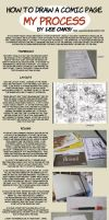 How to Draw Comics  layout to finished pencils by leeoaks