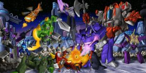 Battle on Cybertron by Whelljeck