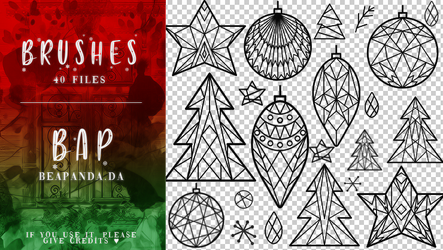 Brushes 036 // Christmas by BEAPANDA