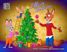 Zootopia Christmas by Richmen