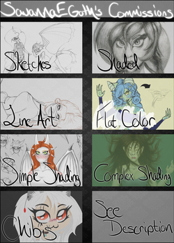 Commission Prices and Info by SavannaEGoth