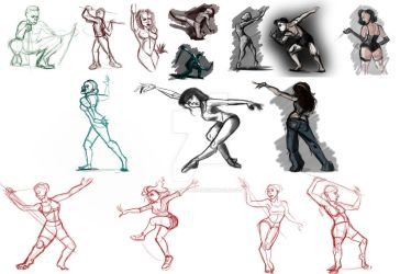 10 Minute Pose Studdies by Mad--Munchkin