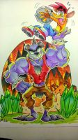 Koala kong with crash bandicoot by EZstrongs