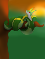 Serperior in the sunset. by jacobgord12345