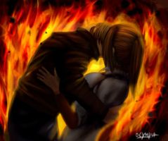 Leon Claire Fire by Olympia-Aurion