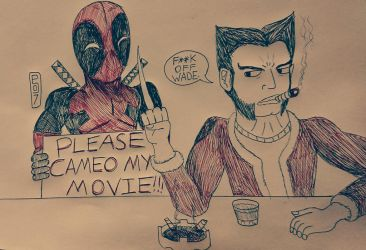 Not Gonna Happen Deadpool by MaleVolentSamSon