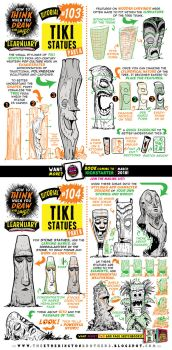 How to draw TIKI STATUES tutorial by STUDIOBLINKTWICE
