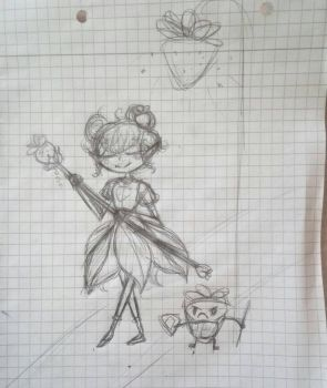 a doodle I did in school by drawinglikeaunicorn