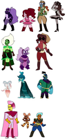{Lowered Price} Leftover Adopts OPEN by ghostlymoon-adopts