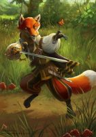 Fox fencer by Vaejoun