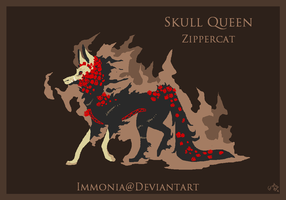 Holiday Zippercat: Skull Queen [CLOSED] by Immonia