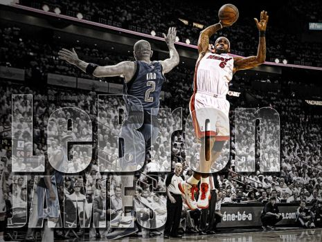 LeBron James by Golden24Knight