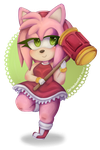 Amy Chibi w/ speedpaint by cerisedoodles