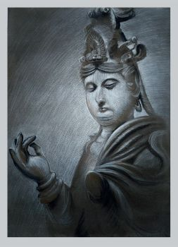 Chinese charcoal drawing by Hungry-Porkins