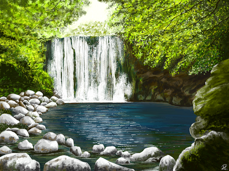 Waterfall by MarianthiZ