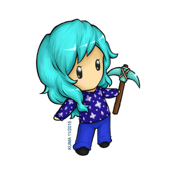 MINI CrystalRebel w/ Minecraft Pickaxe by KumaDanDan