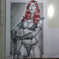 RED SONJA, done !!! by carlosbragaART80