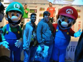 me and my freind with mario and luigi^^ by BrandyKoopa92