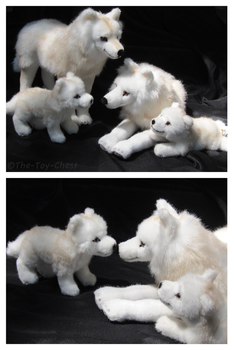 Kosen Arctic Wolf Family II by The-Toy-Chest