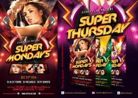 Everyday Party Nightclub Psd Flyer Template by dennybusyet