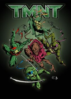 Mini Tmnt Colors Low Res by BDixonarts