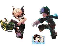 Bakugo and midoriya render by Muztnafi