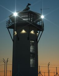 Prison Guard Tower by davidbrinnen