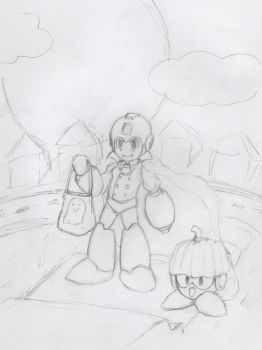 Trick or Treat :3 (sketch) by house-fish
