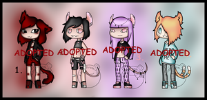 Cat and Mice Adopts (CLOSED) by Adopt-From-Frog
