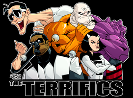 The Terrifics by dwaynebiddixart