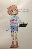 Another Frisk drawing by Banivee