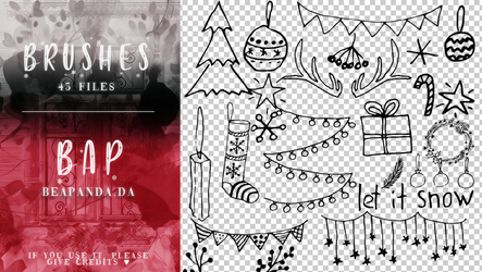 Brushes 035 // Christmas by BEAPANDA