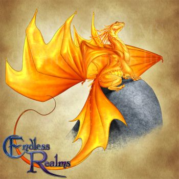 Endless Realms bestiary - Citrine Dragon by jocarra