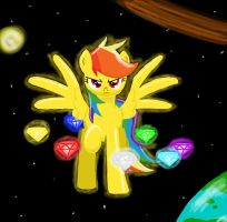 Chaos Rainbow Dash: Fastest Flier of Two Worlds by MegaArtist923