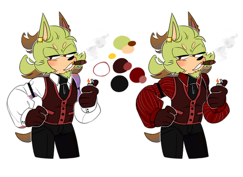 OC Ref: Lawrence (Lance) the Hedgehog by Apotoz