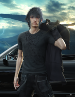 FFXV: Noctis by DemonLeon3D