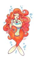 Goldfish Mermaid by OwlyGem