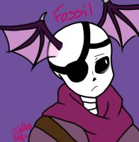 Fossil the half bat-like Skeleton by TGartz