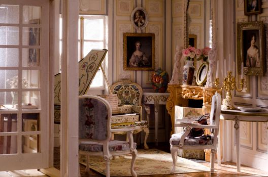 the miniature music room by SRKminiature