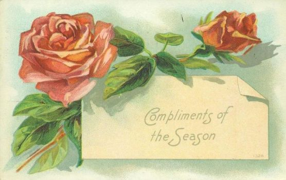 Rosy Compliments Of The Season by Yesterdays-Paper