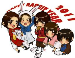 APH- Happy Rabbit Year by NatsuPi